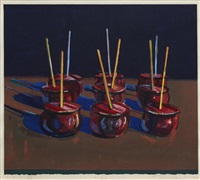 candy apples by wayne thiebaud