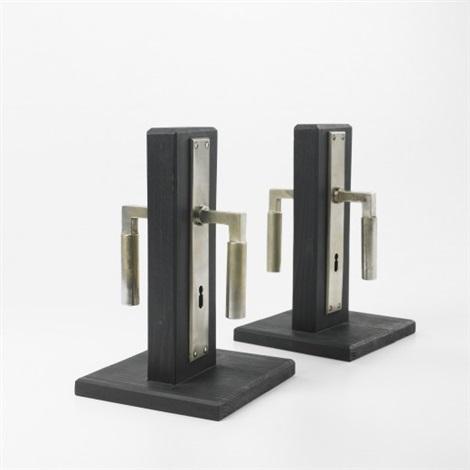 door handles 2 pairs by walter gropius