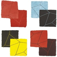 crackle suite (set of 4) by mary heilmann