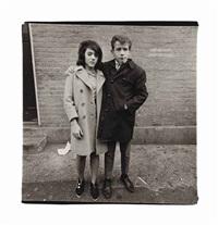 teenage couple on hudson street, n.y.c., 1963 by diane arbus