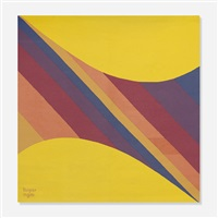 two curves with warm progressions by herbert bayer