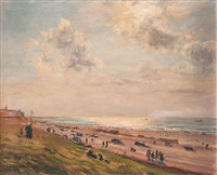 strand in scheveningen by adolf helmberger
