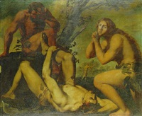 adam and eve lamenting the death of ariel by michele ragoglia