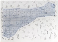 new york city map triptych (set of 3) by alan sonfist