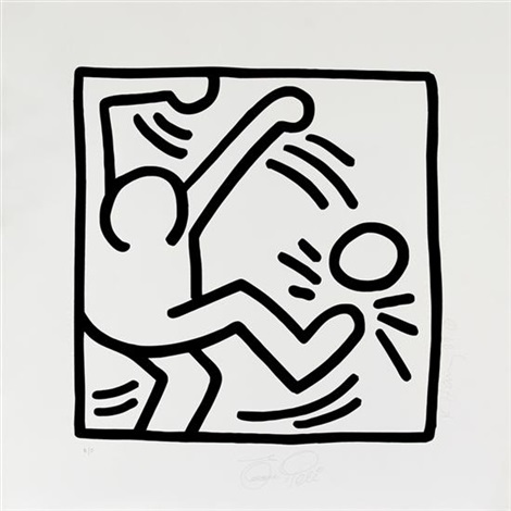 untitled soccer pele come un jugador by keith haring