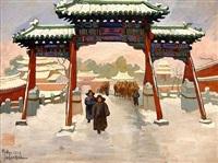 pekin sous la neige by léa (madame) lafugie