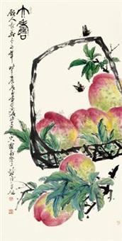 提篮寿桃 by xu chunyuan