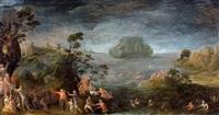 de zondvloed met de ark van noah by lucas van valkenborch