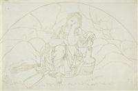 weinende frau (psyche) by bonaventura genelli