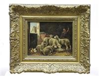 moutons dans l'étable by albin (ph.) de buncey