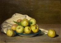 bodegón de manzanas by ana maria albero