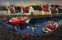 pittenweem harbor by shahin memishi