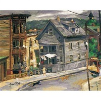 untitled (new england town) by gordon samstag