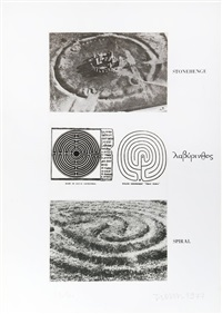 stonehenge, spiral (from wessex portfolio) by joe tilson