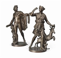 the apollo belvedere and diana the huntress (pair) by antique
