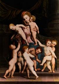 allegorie der caritas by vincent sellaer