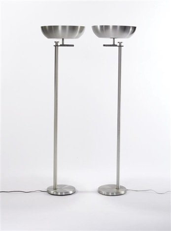 pair of floor lamps by kurt versen