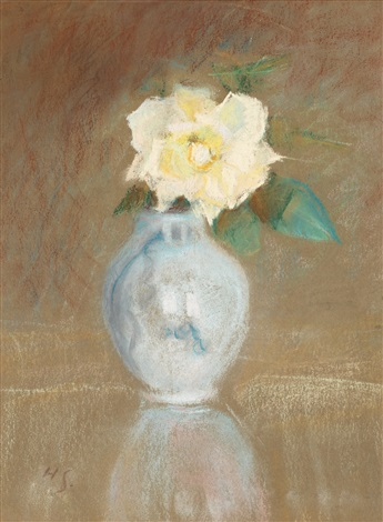 roses in a vase by helene sofia schjerfbeck
