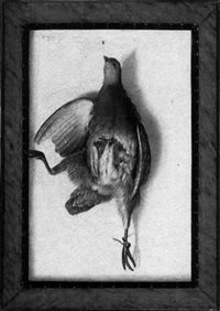 a still life of a dead bird by cornelis (bilcius) biltius