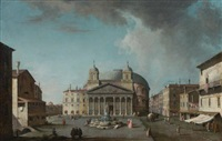 view of the pantheon, rome by jacopo fabris