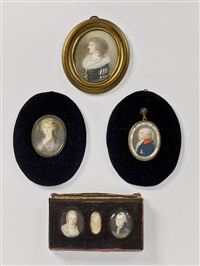 portraits of the family of freiherr von den horst (4 works) by anonymous-german (18)