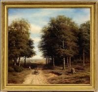 landscape with a cart by mikhail konstantinovich klodt von jurgensburg