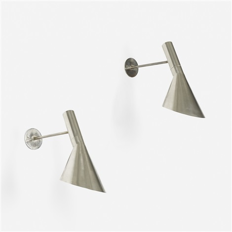 aj wall lamps pair by arne jacobsen