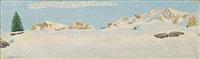 sonnige winterlandschaft by gottardo guido segantini