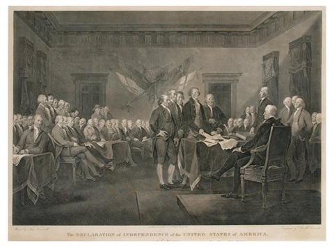 the declaration of independence of the united states of america july 4th by john trumbull