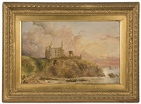 newark castle fife coast by alexander leggatt