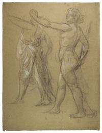 studio accademico per due figure femminili by armando spadini