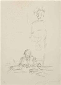 the artist's mother reading iii by alberto giacometti