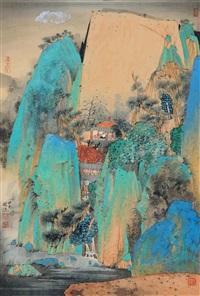 高阁坐忘 (scenery among summits) by qi enjin