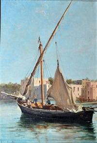 marina con barche by domenico ammirato