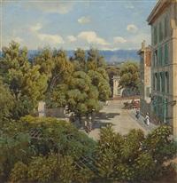 stadtpalais in südlichem sommerlicht by jean-marc dunant-vallier