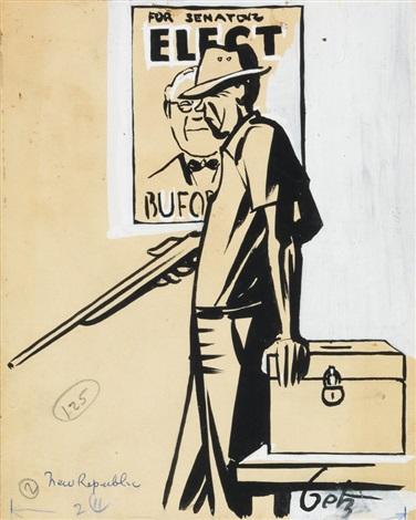Group of 3 World War II-era political cartoons by Arthur