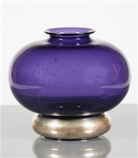 vaso in vetro e argento by franca helg and franco albini