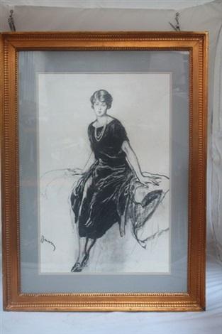 portrait de femme en pied by etienne drian