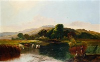 on the riverbank by edwin henry boddington