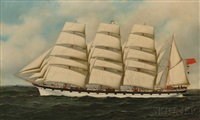 portrait of the four-masted scottish bark strathgryfe by antonio jacobsen