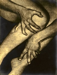 untitled - hands clutching ankle and calf by alexander alland