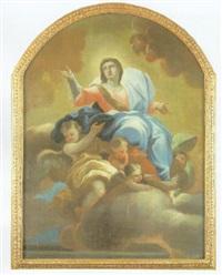 virgen rodeada de ángeles by giuseppe simonelli