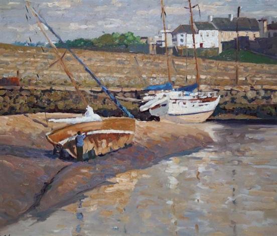 low tide balbriggan harbor by alex mckenna