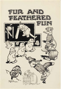 frontispiece for fur and feathered fun by harry rountree