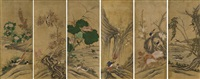 minwha flowers & birds (6 works) by anonymous-korean
