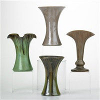 vases (4 works) by fulper pottery