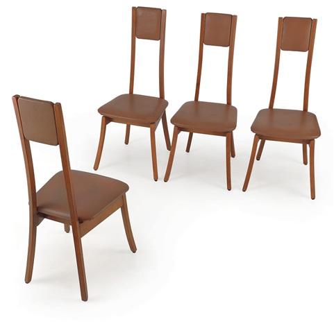 Tavolo con quattro sedie Programma S11 59 by Angelo Mangiarotti on ...