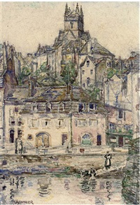 the town of guimperlé, brittany by jane younger