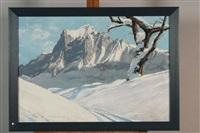 le watterhorn en hiver by charles henry contencin