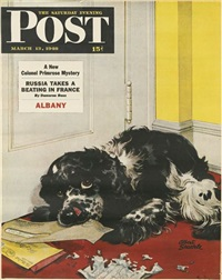 the saturday evening post (4 works) by albert staehle